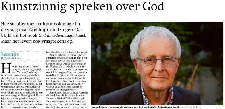 spreken over god - friesch dagblad